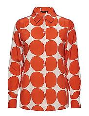 GABRO PIENET KIVET Shirt - ORANGE, WHITE