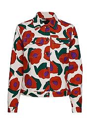 SARPIO ISO VIKURI Coat - WHITE, RED, GREEN