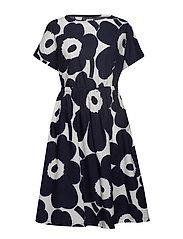PIIRI UNIKKO Dress - OFF-WHITE, DARK BLUE