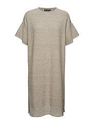 MALIA Knitted dress - OFF WHITE, BEIGE