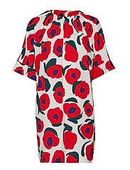 RIEMU ISO VIKURI Dress - ORANGE, PURPLE, DARK GREEN