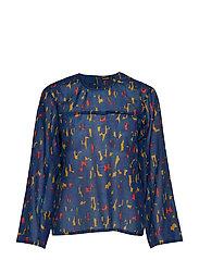 MALTTI KASKI Shirt - DARK BLUE, RED, GOLD