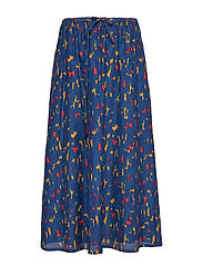 HEHKU KASKI Skirt - DARK BLUE, RED, GOLD