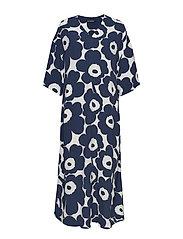 RIIMU UNIKKO Dress - OFF-WHITE, DARK BLUE