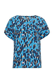 NELIÖ KASKI Shirt - BLUE, DARK BLUE, BEIGE
