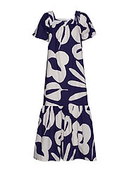 OIVALLUS VIIDAKKO Dress - DARK BLUE, OFF-WHITE