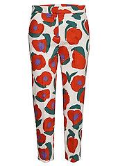 MARTHA ISO VIKURI Trousers - WHITE, RED, GREEN