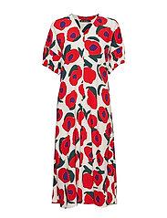 ILO ISO VIKURI Dress - ORANGE, PURPLE, DARK GREEN