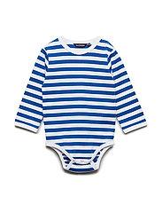 VINDE TASARAITA Bodysuit - WHITE, BLUE