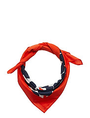 TAISA MINI UNIKKO Scarf - WHITE,NAVY,ORANGE