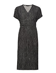 TRIPLIITTI AITA Dress - BLACK, OFF WHITE