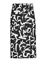 DULA HARHA Skirt - BLACK, OFF-WHITE