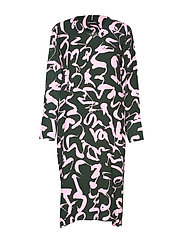 SYNONYYMI HARHA Dress - GREEN, PINK