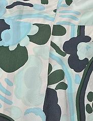 Marimekko - SOLMU KARUSELLI - midi kjoler - beige, dark green, turquoise - 3