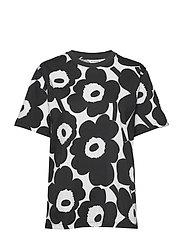 HIEKKA PIENI UNIKKO GREY T-shirt - MELANGE GREY, BLACK