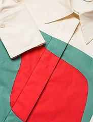 Marimekko - VEYTYS TAIFUUNI SHIRT - langærmede skjorter - white, turquoise, red - 2