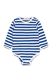 VINDE TASARAITA BODYSUIT - WHITE, BLUE