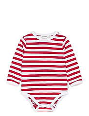 VINDE TASARAITA BODYSUIT - WHITE, RED