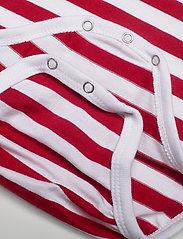 Marimekko - VINDE TASARAITA BODYSUIT - długie rękawy - white, red - 3