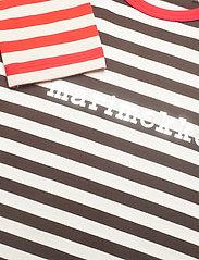 Marimekko - VEDE TASARAITA SHIRT - dlugi-rekaw - dark brown, off white - 2