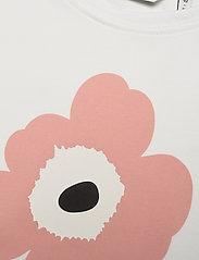 Marimekko - SOIDA UNIKKO PLACEMENT T-SHIRT - krótki rękaw - white, rose, black - 2