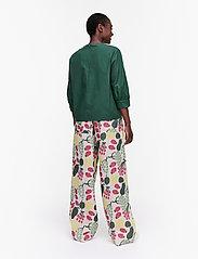 Marimekko - HUOMEN SOLID SHIRT - kortærmede bluser - dark green - 3