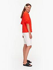 Marimekko - TUNSIT SOLID SHIRT - t-shirts - red - 3