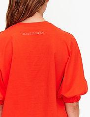 Marimekko - TUNSIT SOLID SHIRT - t-shirts - red - 4