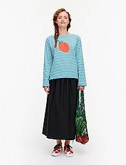Marimekko - LEIKITTELIT MANSIKKA PLACEMENT SHIRT - langærmede toppe - off white, blue, red - 0
