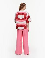 Marimekko - SILEÄ MELOONI SHIRT - kortærmede bluser - red, pink, beige - 3