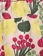 Marimekko - KUKKINUT PIENI TORI TROUSERS - bukser med brede ben - green, rose, yellow - 6