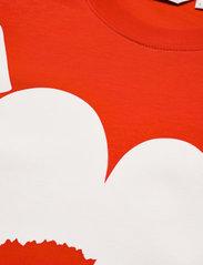 Marimekko - HIEKKA UNIKKO PLACEMENT T-SHIRT - t-shirts - red, off white - 2