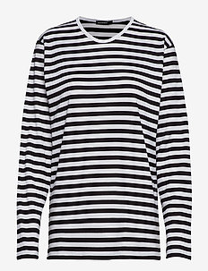 PITKÄHIHA 2017 Shirt - striped t-shirts - white, black