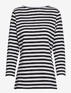 Ilma shirt - stripede t-skjorter - white, black