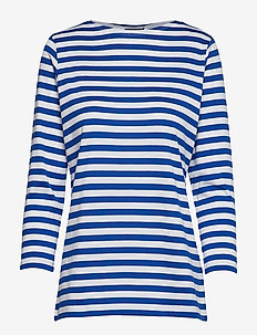 Ilma shirt - gestreifte t-shirts - white, blue