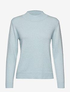 PERIHELI Knitted pullover - LIGHT BLUE