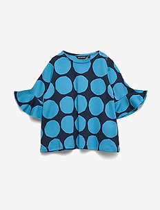 POMPPIA MINI KIVET 1 Tunic - BRIGHT BLUE, DARK BLUE