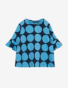 POMPPIA MINI KIVET 2 Tunic - BRIGHT BLUE, DARK BLUE