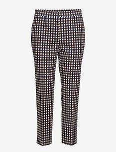 MARTHA MILLIRUUTU Trousers - WHITE, BLUE, BROWN