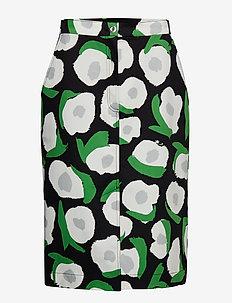 AUNE ISO VIKURI Skirt - BLACK, WHITE, GREEN