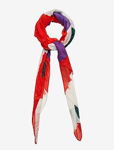 SIVULLINEN ISO VIKURI Scarf, woven - WHITE,RED,GREEN