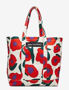 PERUSKASSI ISO VIKURI Bag - WHITE,RED,GREEN