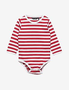 VINDE TASARAITA Bodysuit - WHITE, RED
