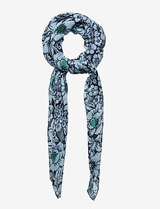 SIVULLINEN JUHANNUS Scarf, woven - NAVY,LIGHT BLUE,GREEN