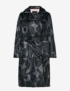 MARSEA UNIKKO Coat - BLACK, DARK GREY