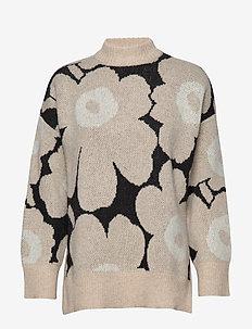 ONNEKAS UNIKKO Knitted pullover - BLACK, BEIGE, WHITE