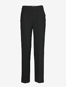 HAKKU LONG SOLID TROUSERS - bukser med brede ben - black