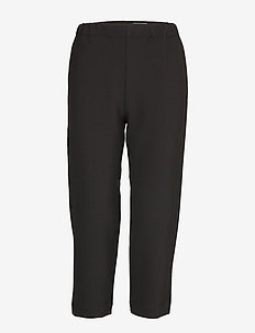 MIETE SOLID TROUSERS - straight leg trousers - black