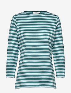 ILMA Shirt - stribede t-shirts - petrol, turquoise