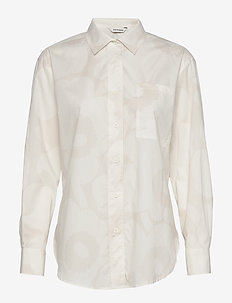KASVIO UNIKKO Shirt - long-sleeved shirts - beige, off-white